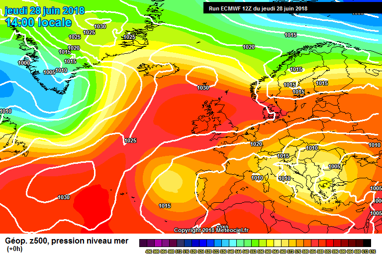 Strong high pressure at present over Ireland