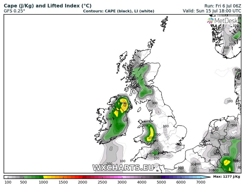 Good cape next weekend shown the risk of severe thunderstorms