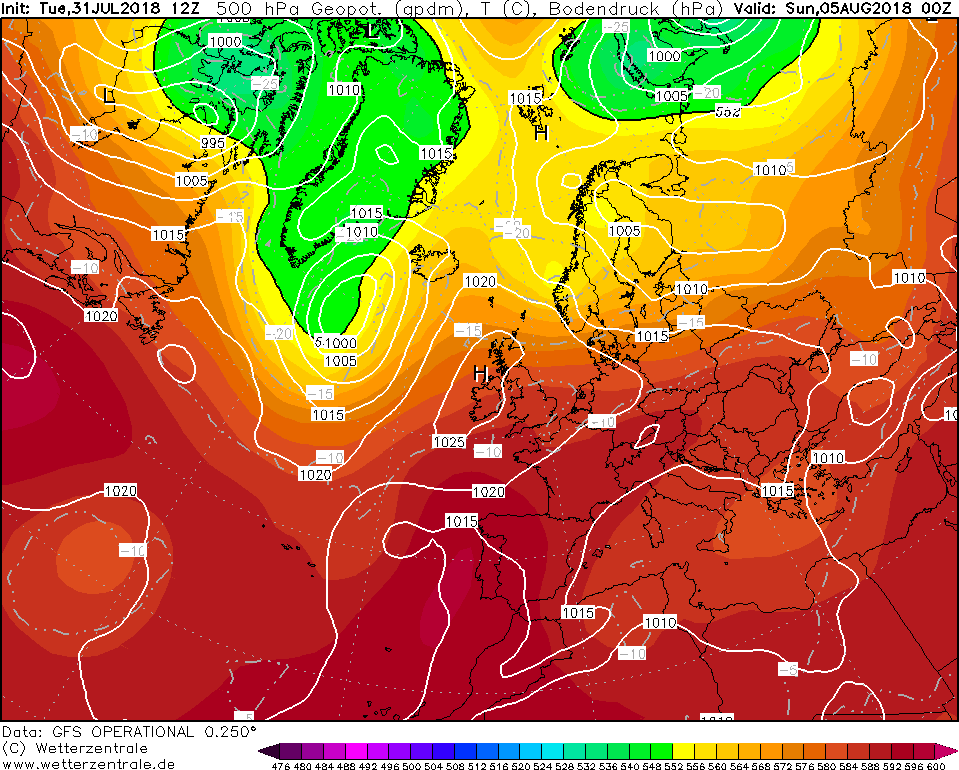 High pressure over Ireland this weekend