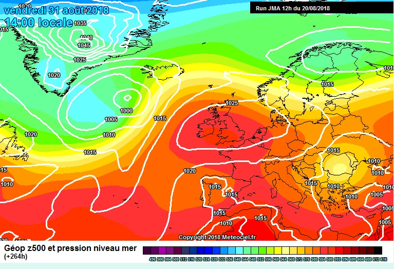 High pressure also shown on the JMA model