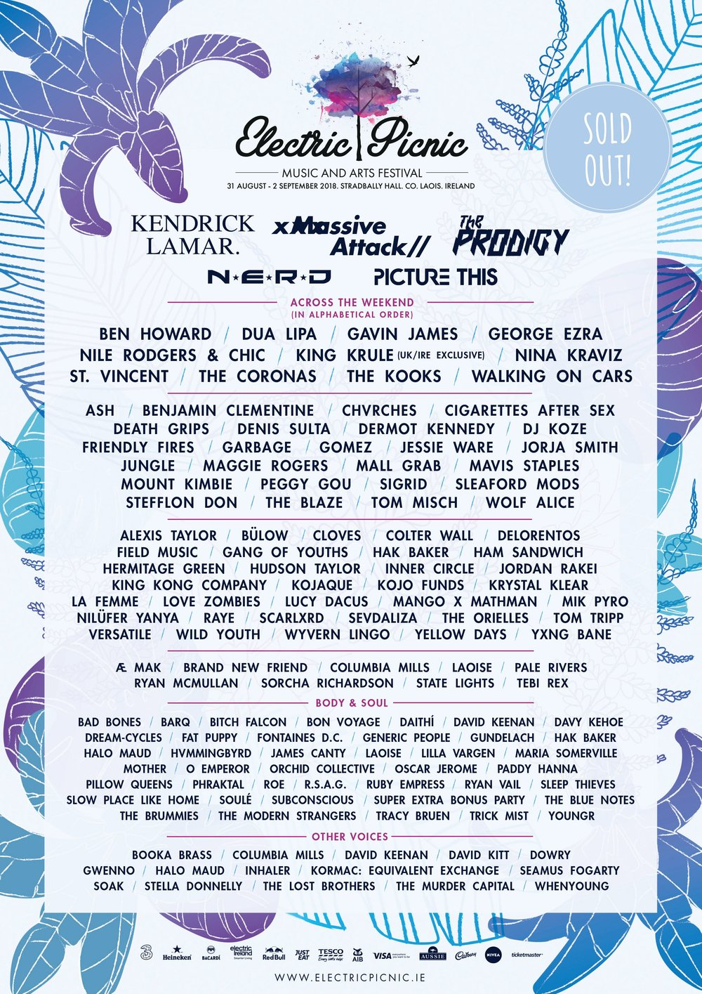 ELECTRIC PICNIC LINEUP