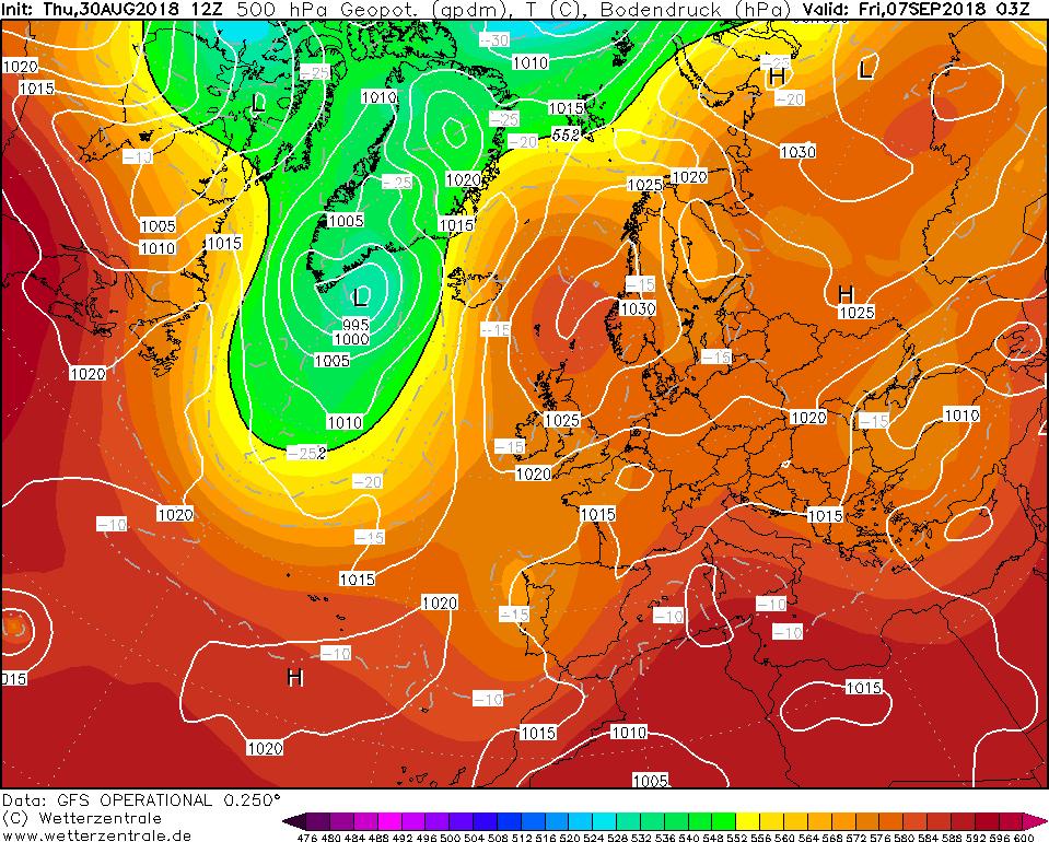 High pressure centered over Scandinavia next weekend