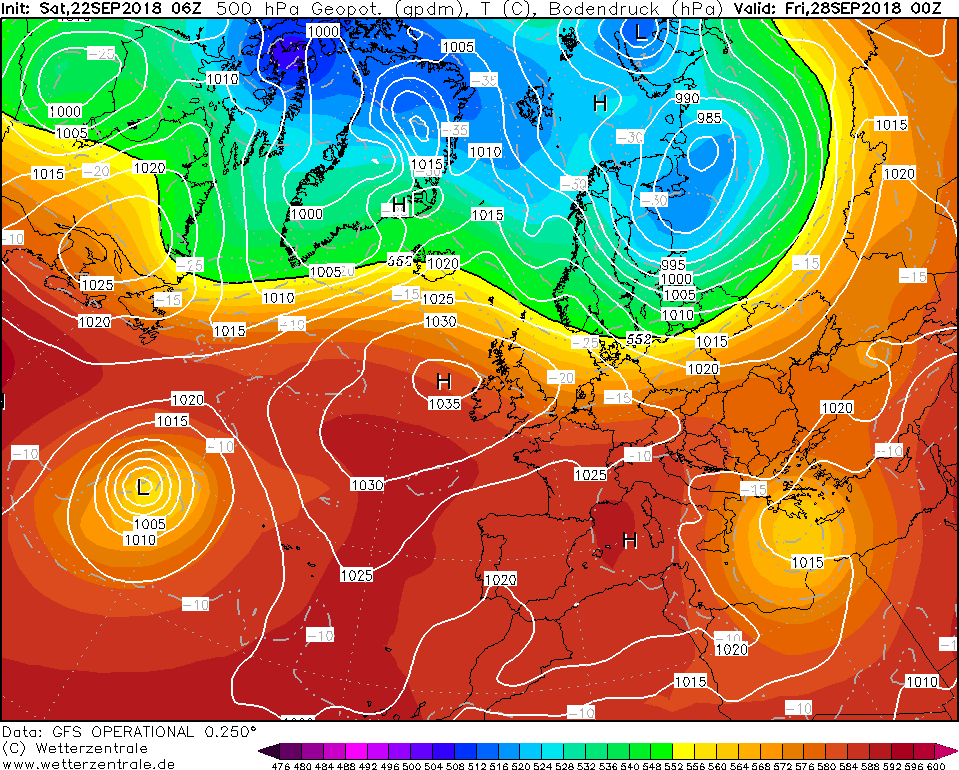 High pressure will be in place over Ireland next week with alot of dry weather around