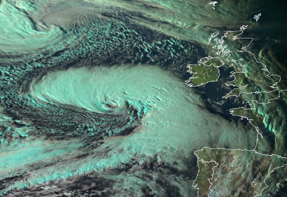 this image shows the natural colour of storm Callum
