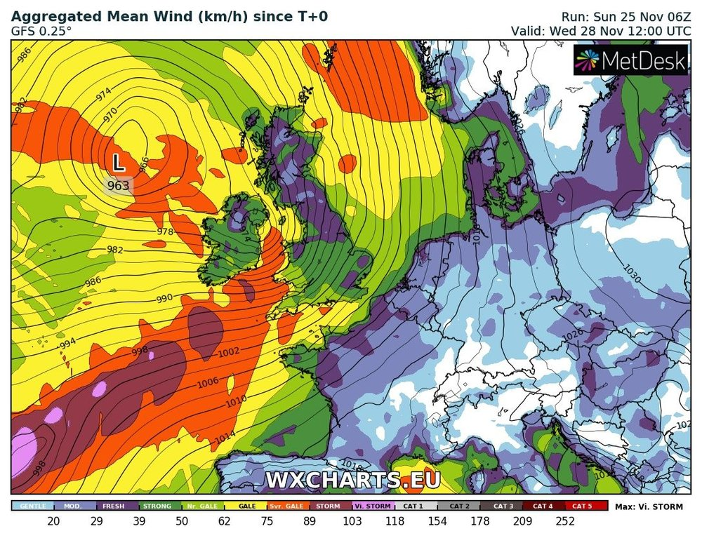 Stormy conditions expected on Wednesday with strong and possible damaging gust likely