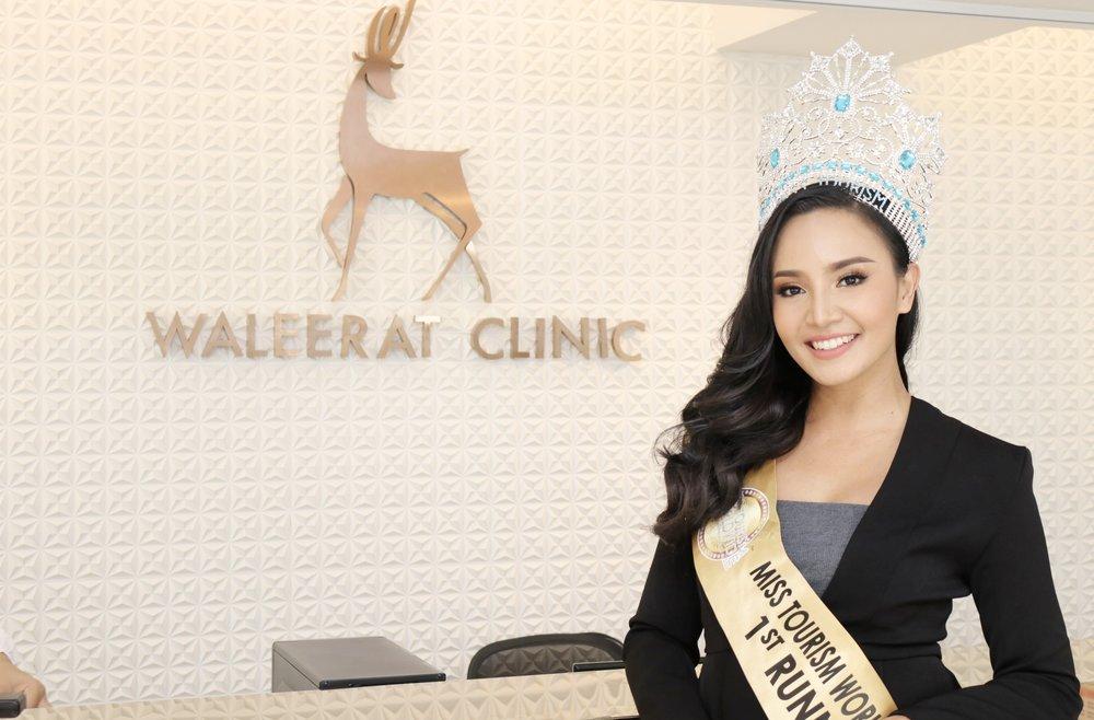 คุณเหมียว คว้าตำแหน่ง รองอันดับ 1 Miss Tourism Worldwide 2018 มา Make over ความสวยหับวลีรัตน์คลินิก ด้วยการฉีดโบท็อกซ์ อ่านเพิ่มเติมคลิก!!   Make over เพิ่มความสวยก่อนคว้ามง
