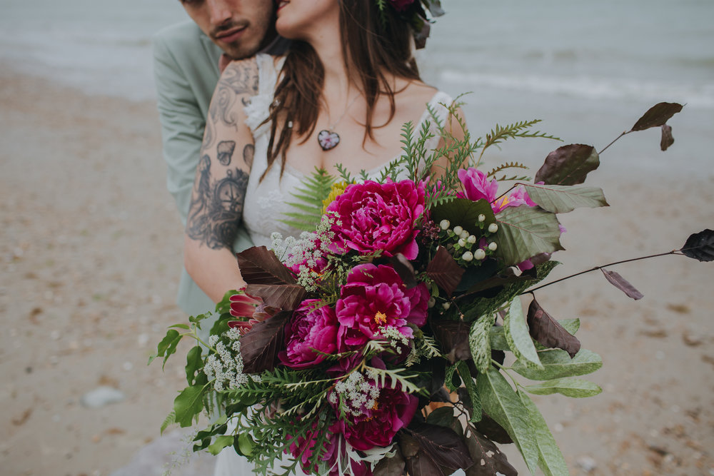 The Ethical Couple - Is the confetti biodegradable? Is the groom's shirt made ethically? Are the flowers organic, sustainable? Is the food locally sourced?