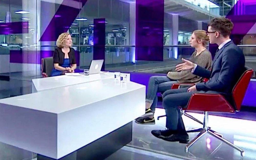Darren Grimes on Channel 4 News