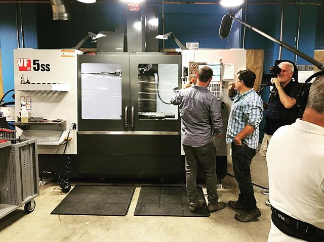 filming on the @haas_automation VF5 for @megyntoday