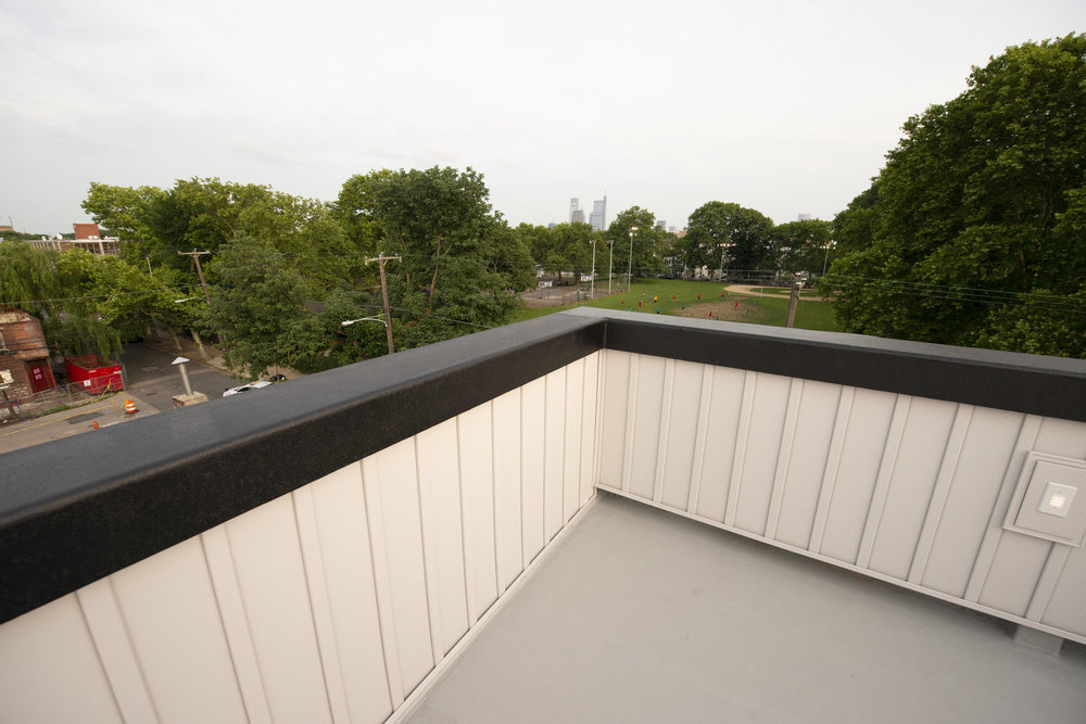 Roofdeck overlooking Athletic Square