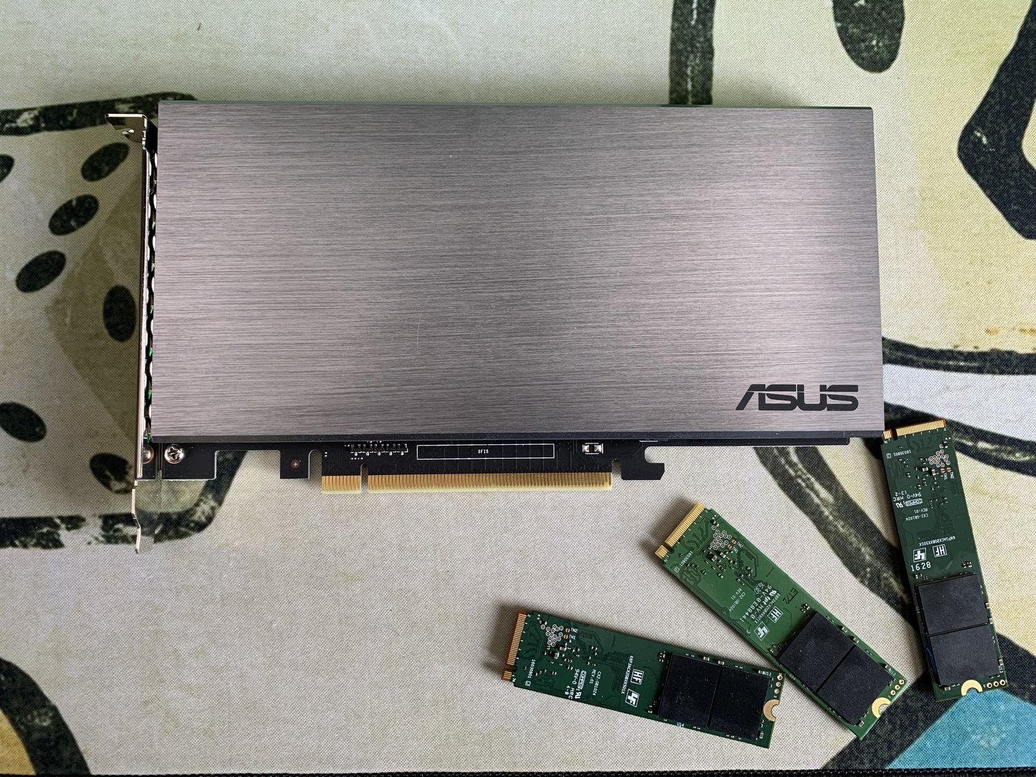 ASUS Hyper M 2 NVME PCI-E Expansion Card and Unraid — SPX Labs