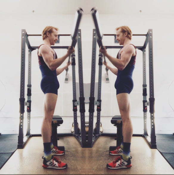 Steven McRae training during his injury recovery.