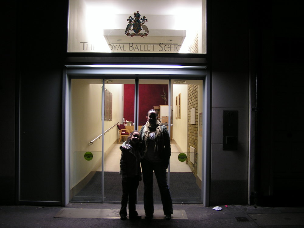 My mom and I in front of the Royal Ballet Upper School after watching The Royal Ballet for the first time. This is when I decided to become a dancer, and my mom was always there to support me.