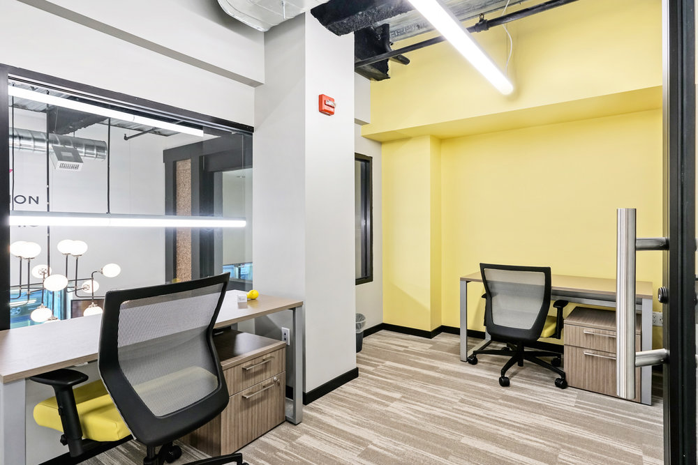 Private Offices - Fully furnished, no overhead costs or hassles, and instant credibility.