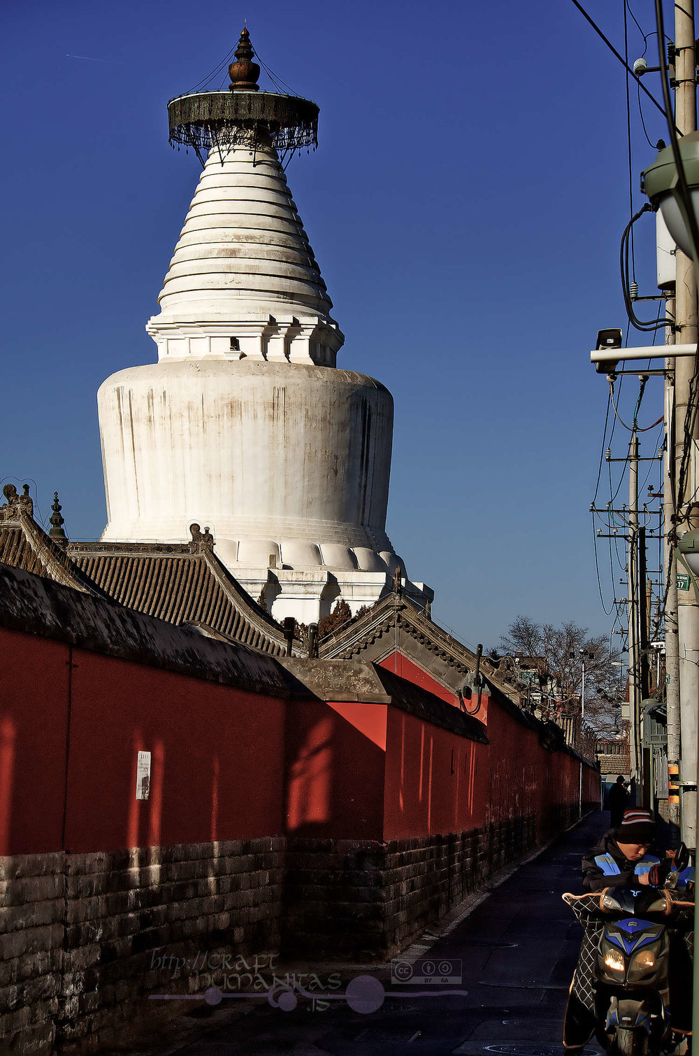 The so called White Pagoda Temple (technically not a pagoda, but a  stuppa ). Peking, January 2019