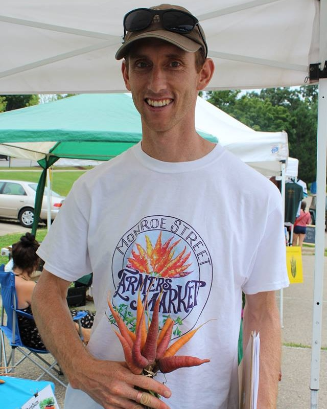 Luke Lippert - Market Manager - Luke has a long-time interest in community building and sustainable agriculture, which led him to help found the Monroe Street Farmers Market back in 2015.  He has been serving as our market manager ever since.