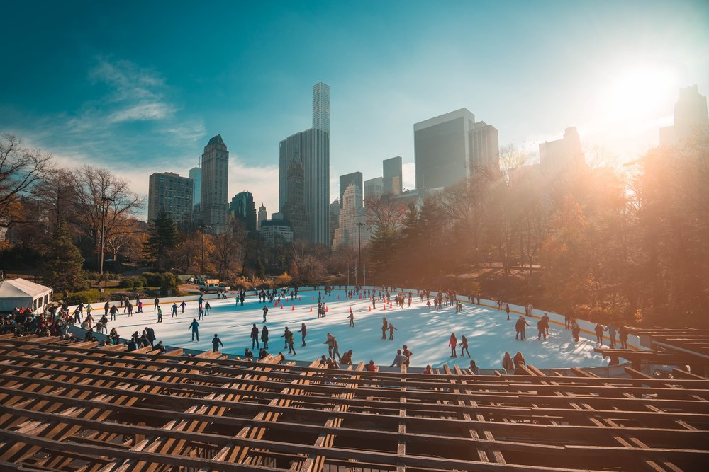 Ice skating at Wollman Rink in Central Park