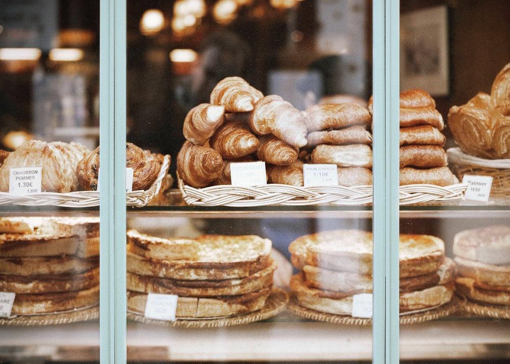 Fresh morning croissants