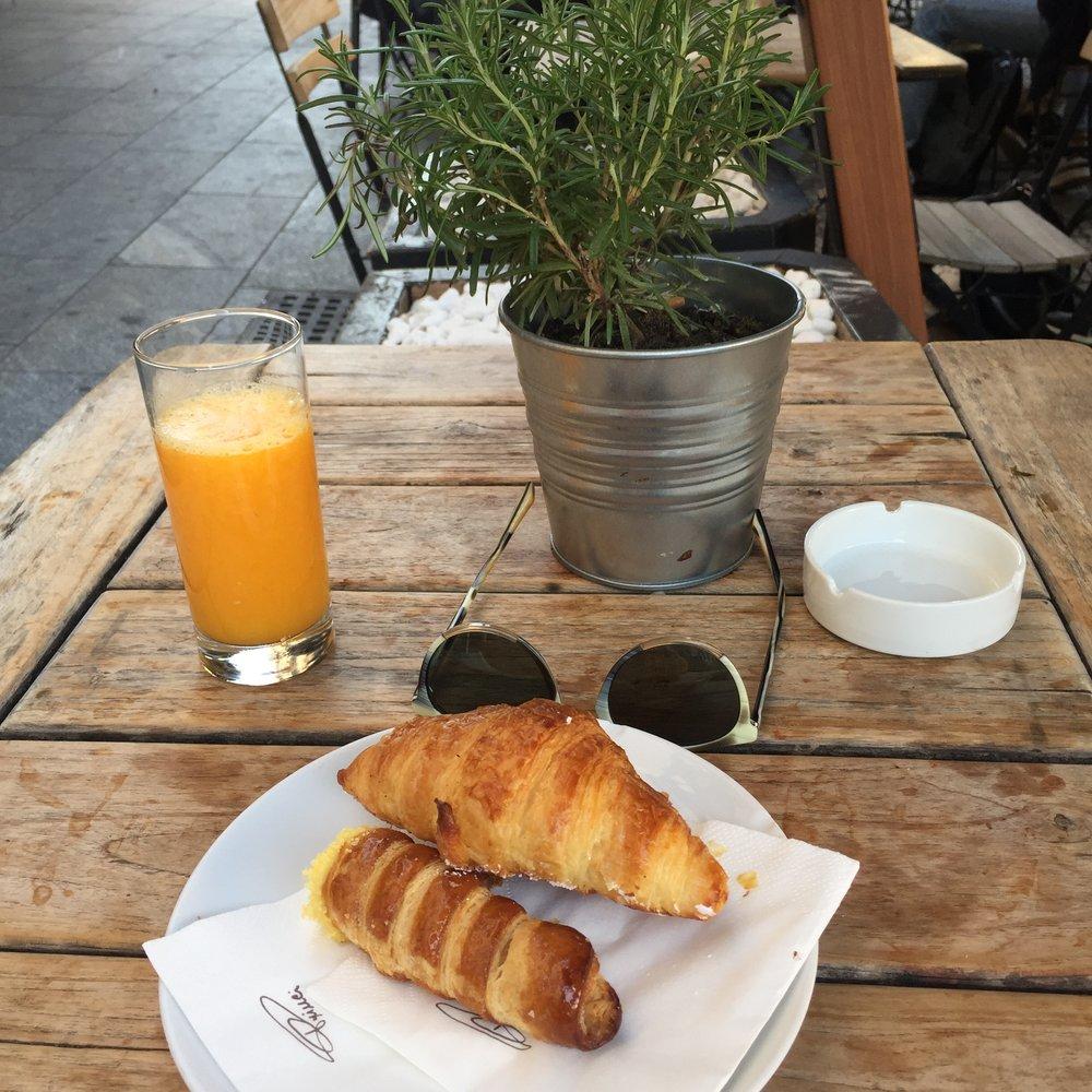 Breakfast all'italiana at Princi