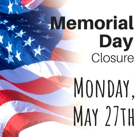 Closed For Memorial Day Community Link
