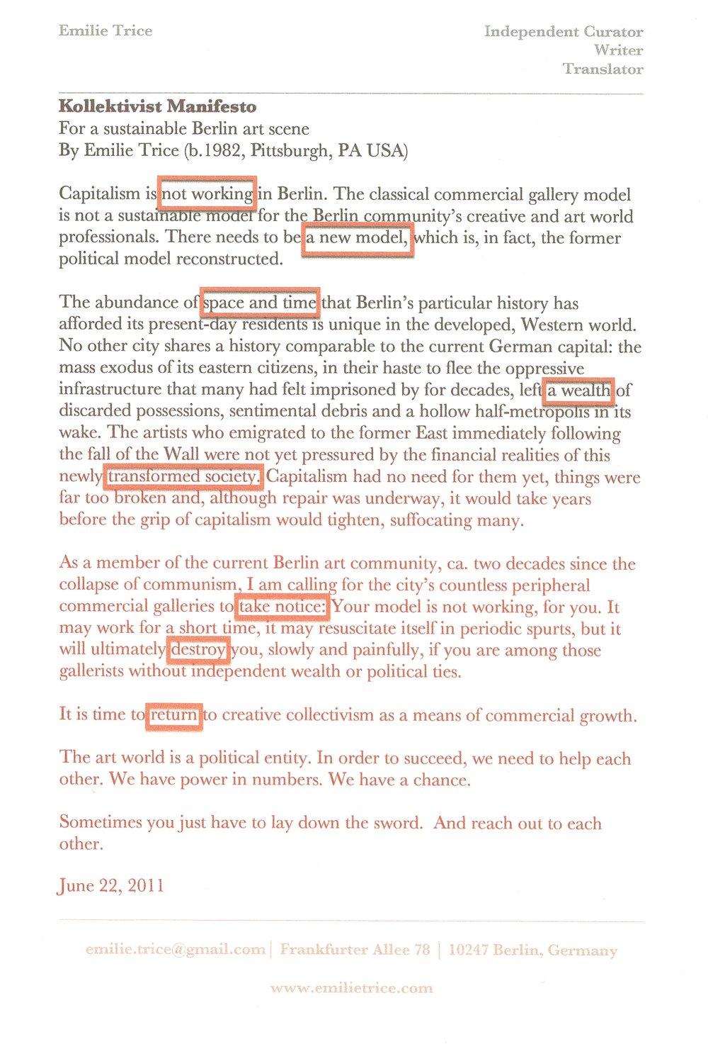 Unfinished business manifesto emilie trice portfolio unfinished business manifesto reheart Gallery