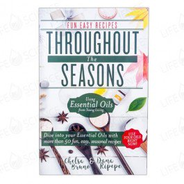THROUGHOUT THE SEASONS   This new booklet has great recipes for you to make during summer, fall, winter or spring. You can use your oils all year round to make great personal recipes or gifts to give away!