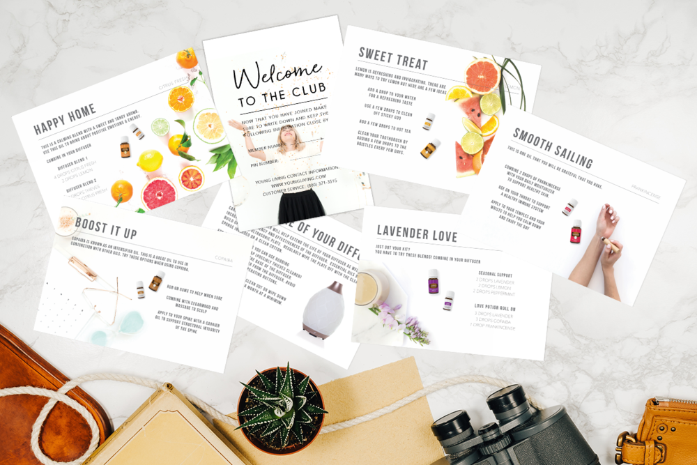 WITH A TWIST BOTIQUE   This shop offers beautiful postcards and booklets to send to existing team members to help them learn to use their oils in everyday life!