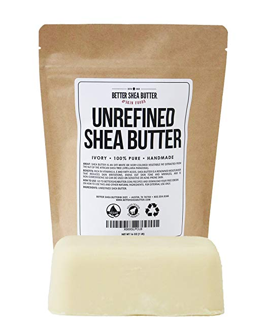 This shea butter makes a luxurious facial moisturizer and mask when mixed with Patchouli, Frankincense, Manuka and Lavender.