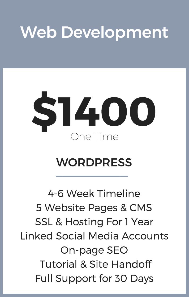 Web Development Pricing | WIX | Seattle