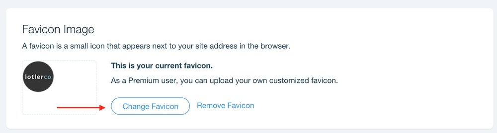How to add Favicon To WIX