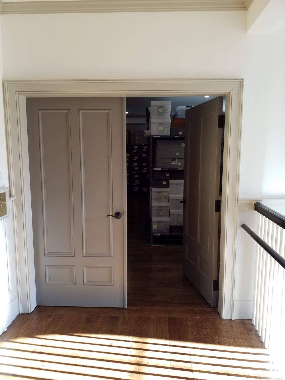 Dark storage closet