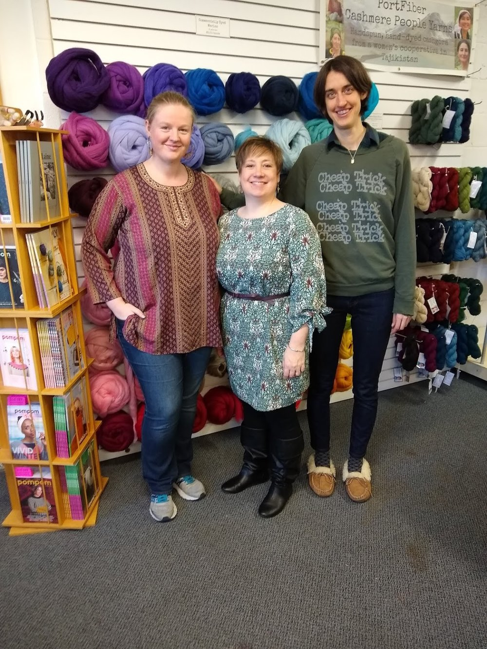 The kind and patient instructors that taught the ins and outs of loom weaving