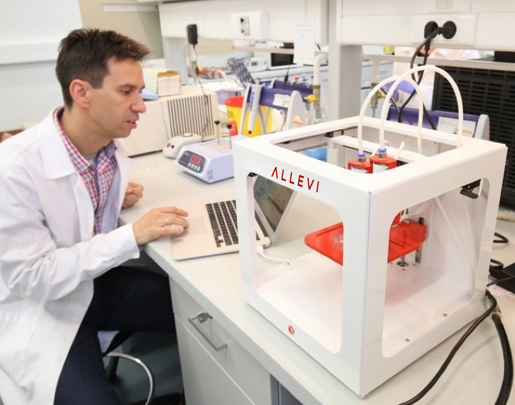 Allevi bioprinter lab researcher
