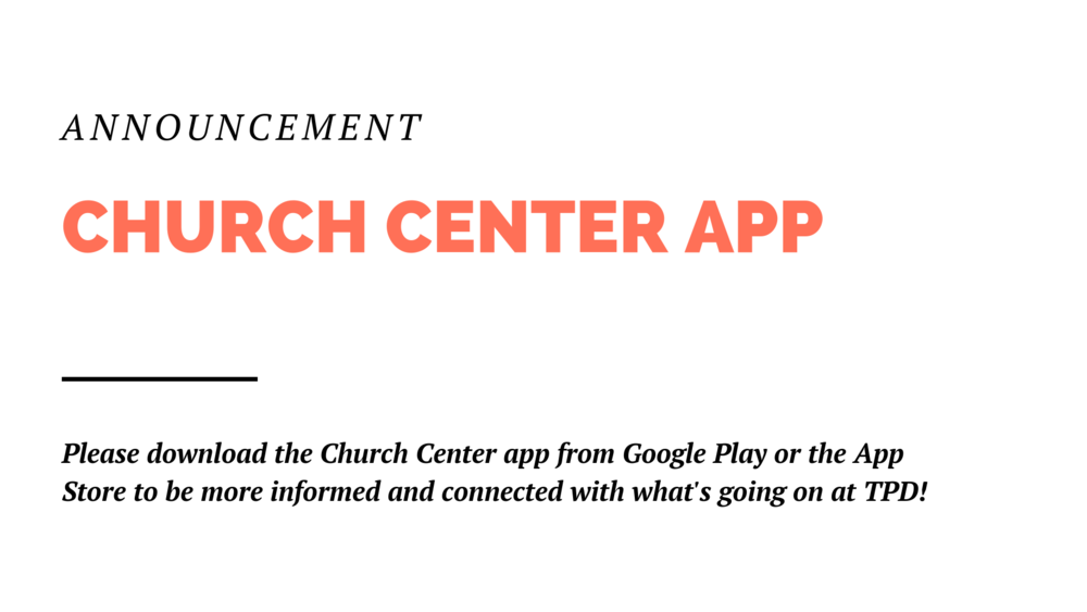 This free app has all The Painted Door community groups, upcoming classes and events, and even a way to donate to the church. This is a great way to get more connected and keep up to date on our church.