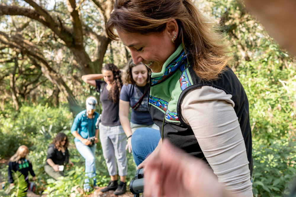 This was group leader Eliana's first time leading a Phoebes bird walk and she did an amazing job!