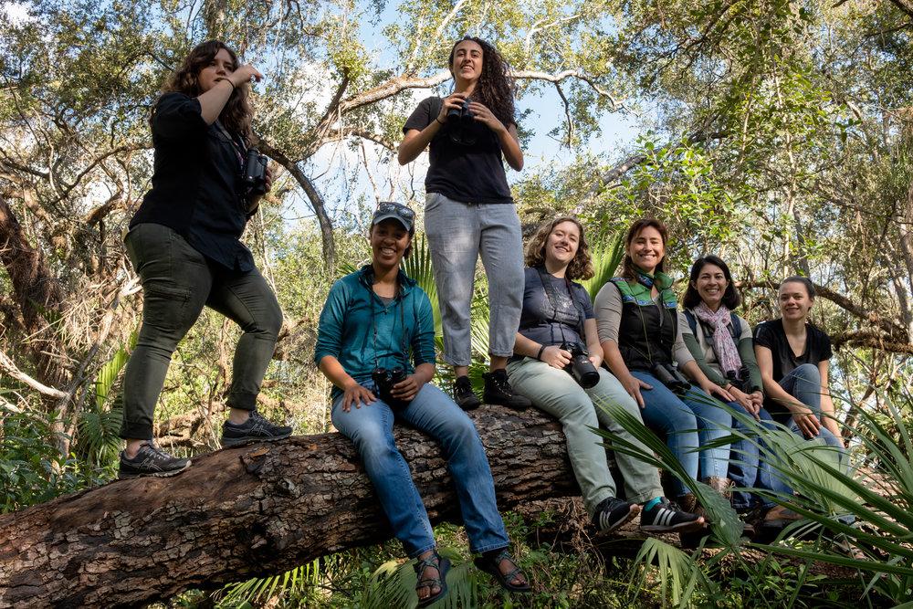 Group shot. Left to right: Leticia, Melissa, Natalie, Alison, Eliana, Ana & Kirsten V.