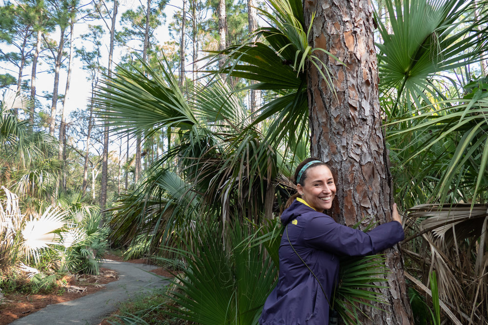 Eliana showing the slash pine love.