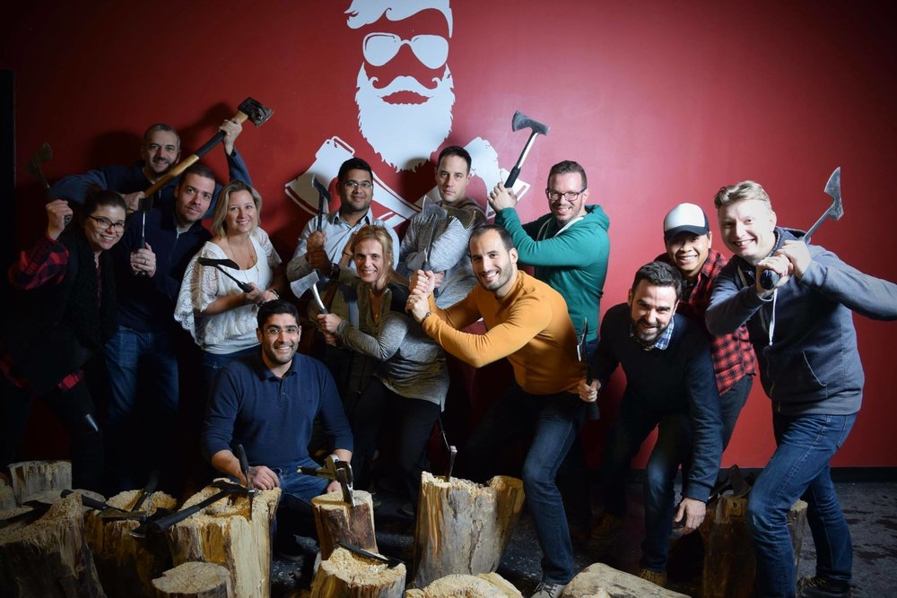 Axe Throwing Party! Need we say more?