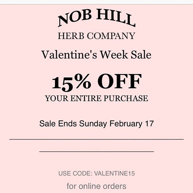 Happy Valentine's Week! 15% OFF includes our NEW Korean skincare and beauty products.  #nobhillherb#nobhillherbco#sanfrancisco#happyvalentinesday#saleweek#koreanskincare#koreanfacialmasks#센프란여행#센프란시스코여행#일상#소통