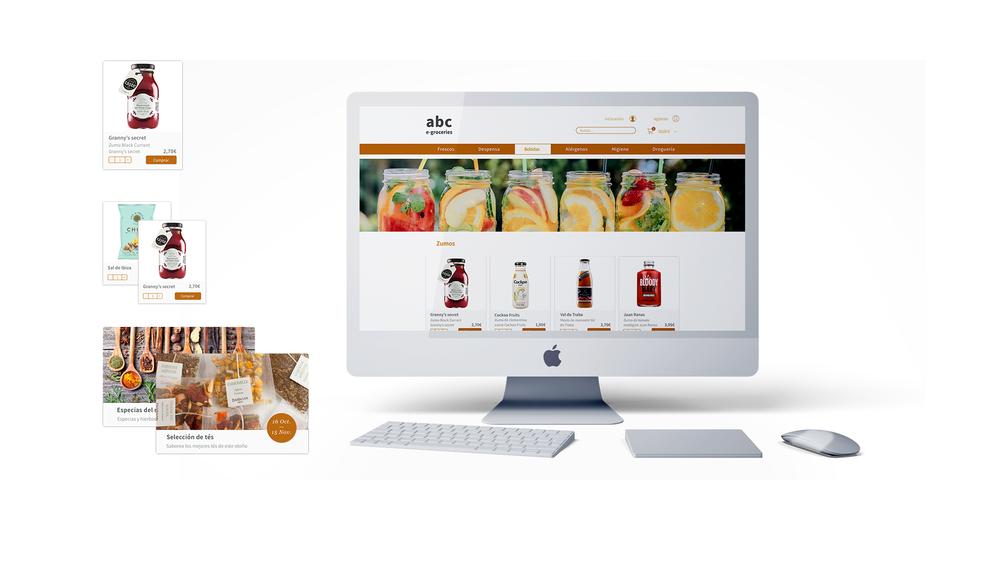 E-commerce - Online groceries. New concept