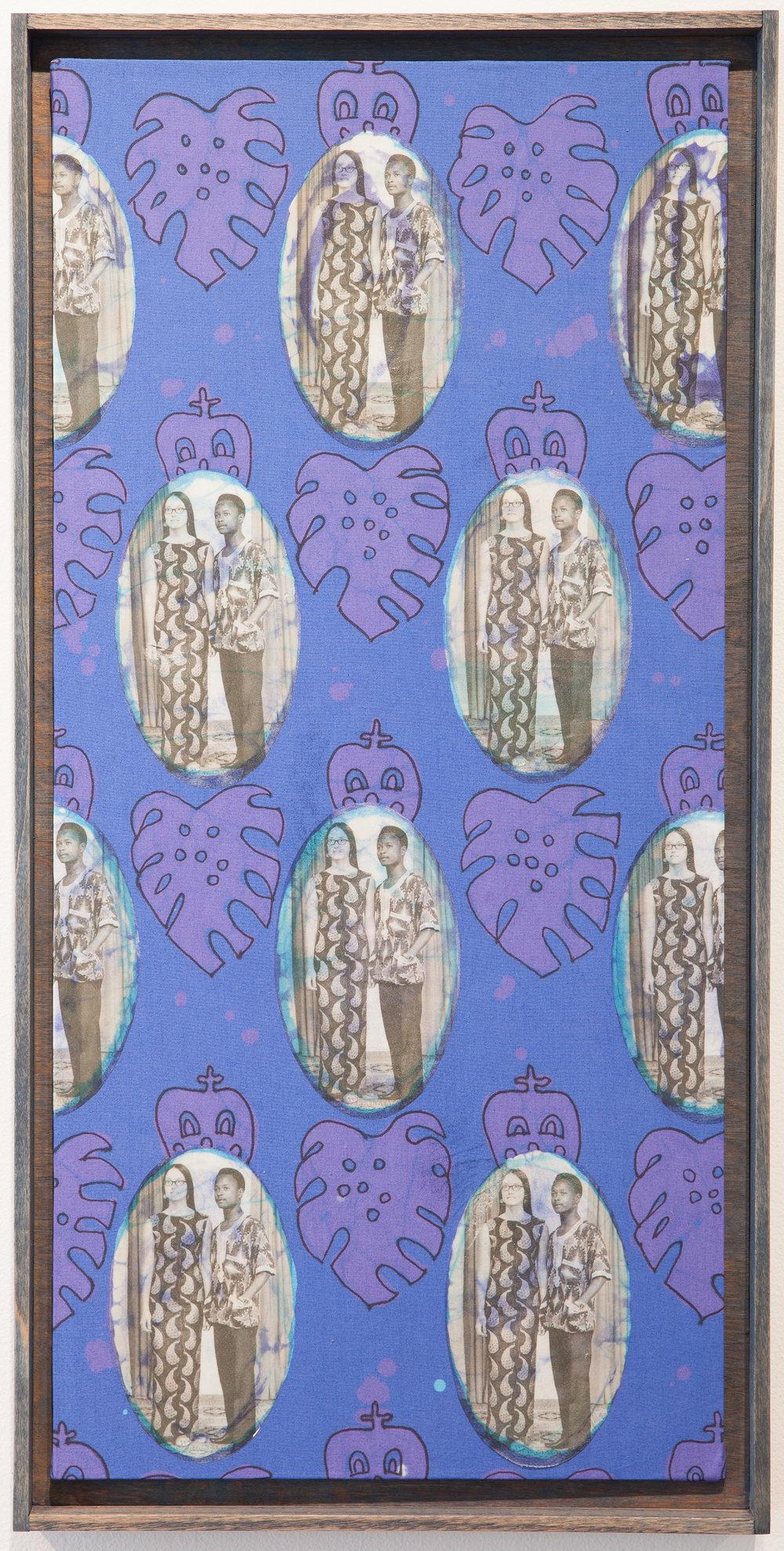 July 27, 1971 , 2017  batik, photo transfer, permanent marker