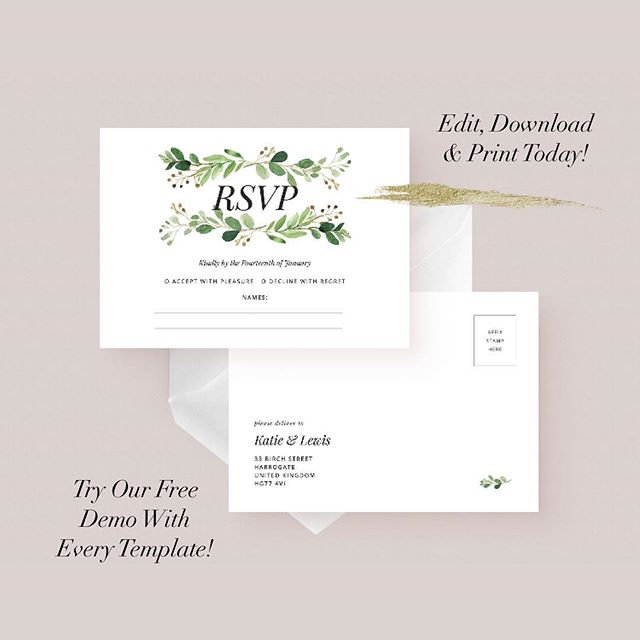 Big news! We have decided to change all of our designs into templates. We have noticed that so many brides and grooms wish they could be more involved in the stationery design process, yet feel lost as to where they should start.  Our templates make it easy and simple to customise a wedding design, allowing you to edit, download and print at home or using an online/local print shop.  We also include a free demo with each template so you can try before you buy ✨