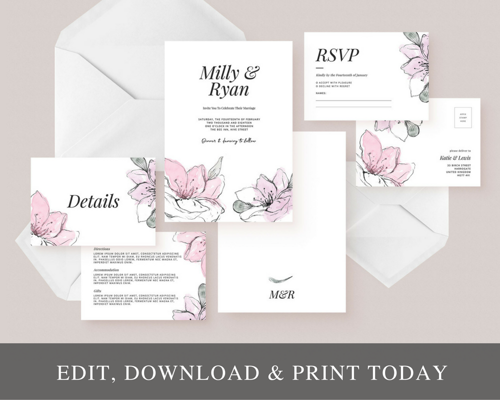 Invitation Suite Templates — PRINTED & ONLINE WEDDING INVITATIONS UK