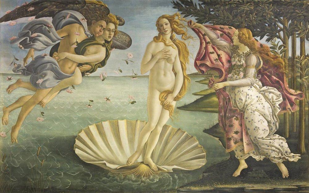 The Birth of Venus - Sandro Botticelli (Firenze 1445-1510)