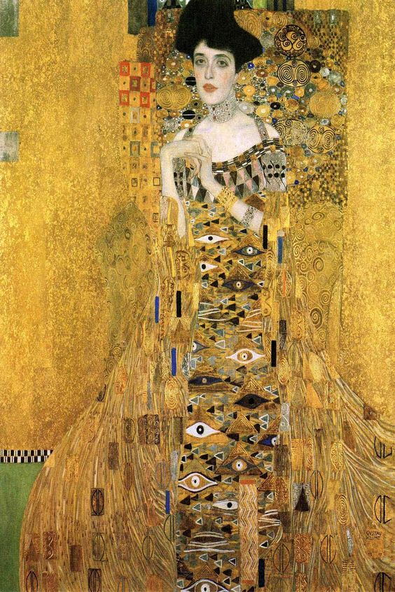 Portrait Of Adele Bloch-Bauer I - Gustav Klimt (1907)