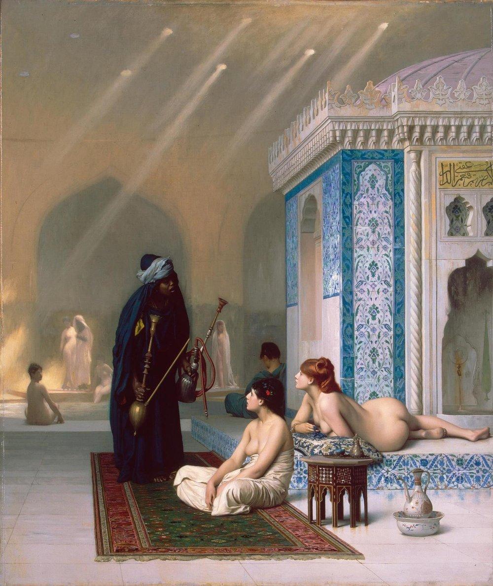 Pool In Harem - Gérôme, Jean-Léon. (1824-1904)