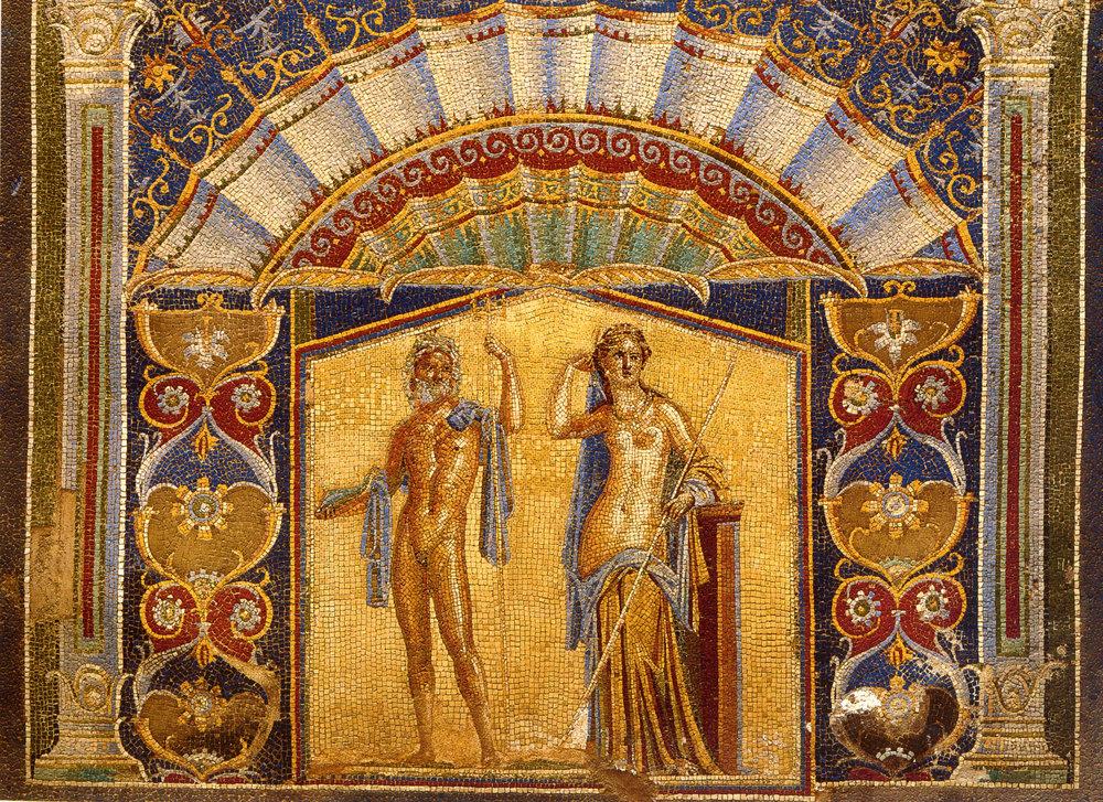 Herculaneum Casa di Nettuno ed Anfitrite Mosaic