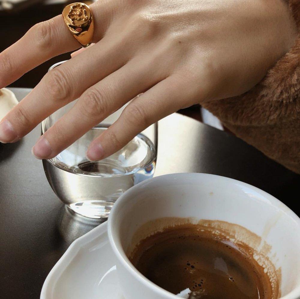 @eleannore - Wearing Diploria Unisex Signet Ring.