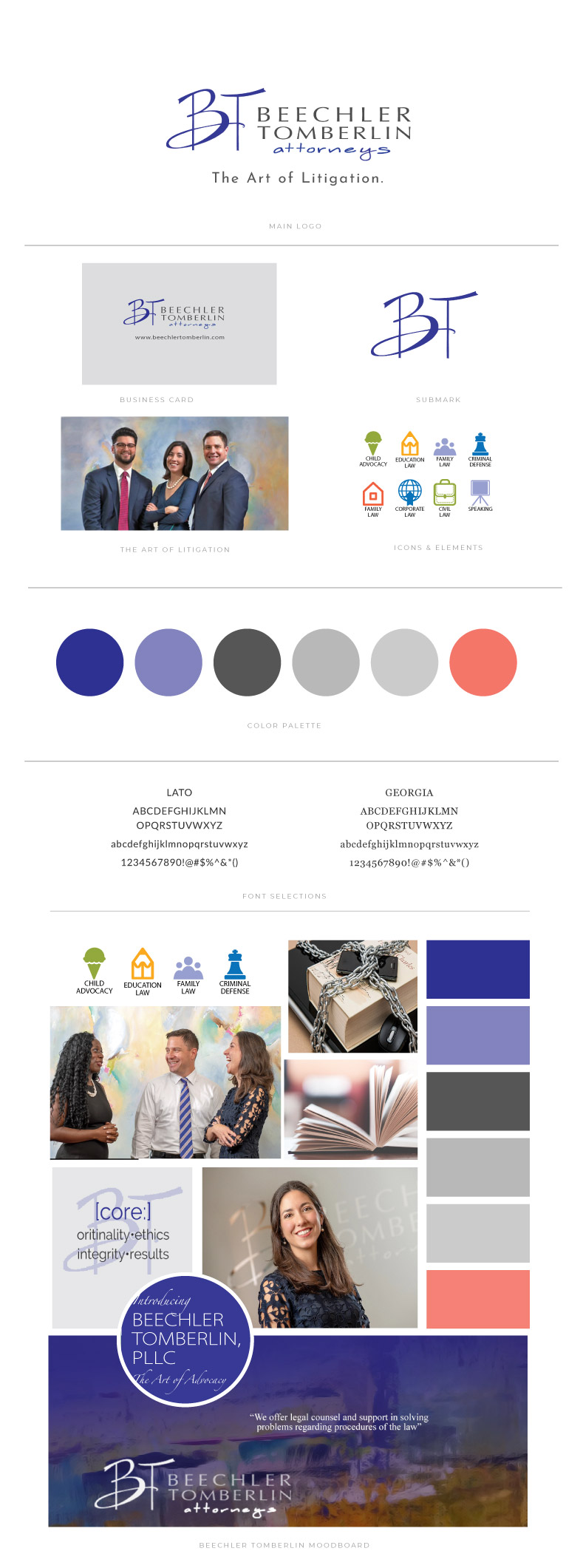 Beechler Tomberlin website by Sinclair Loeffler Coaching Branding & Design