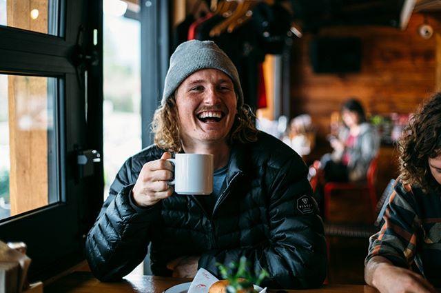 Happy because it's the weekend or becuase the coffee is so good? Probably both... _ #tofino #vancouverisland #yourtofino #tofinobc #hellobc #foodie #westcoast #destinationbc #local #eattofino #foodporn #shedtofino #Shedfaced #Shedtofino #shareyourshed #shed #takeout #explorebc #ShredTofino #shedrestaurant #mojacoffee